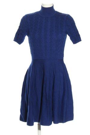 Oasis Vestido tejido azul punto trenzado look casual