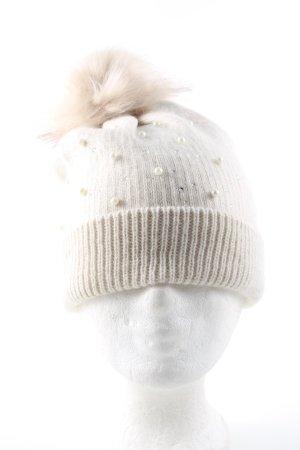 Oasis Cappello a maglia crema elegante