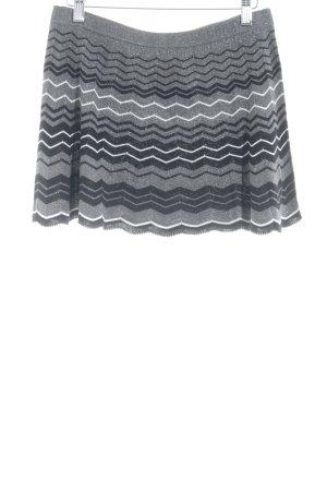 Oasis Knitted Skirt zigzag pattern elegant