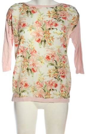Oasis T-shirts en mailles tricotées motif de fleur style décontracté
