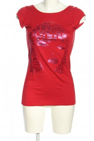 Oasis T-Shirt rot Motivdruck Casual-Look