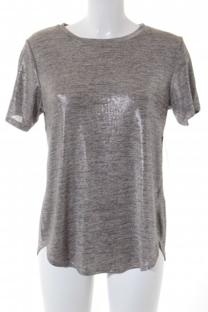 Oasis T-Shirt goldfarben-silberfarben Glitzer-Optik