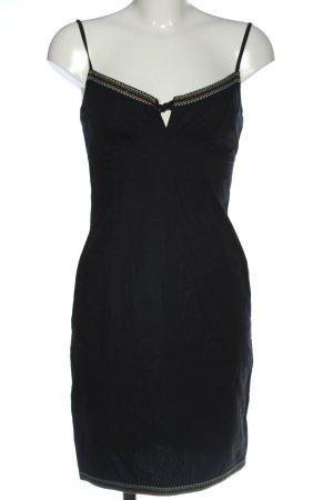 Oasis Vestido tipo overol negro elegante