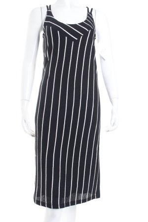 Oasis Trägerkleid schwarz-wollweiß Streifenmuster Casual-Look