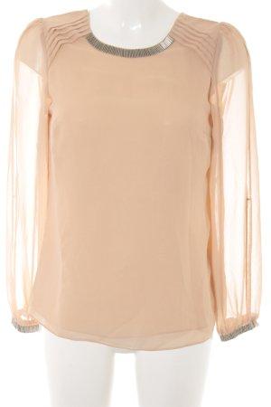 Oasis Transparenz-Bluse nude-silberfarben Elegant