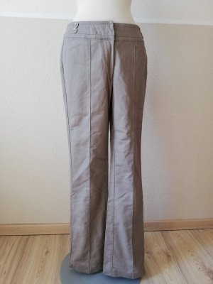 Oasis Tuchhose retro neu Bundfaltenhose taupe grau beige Gr. UK 8 34 XS neu