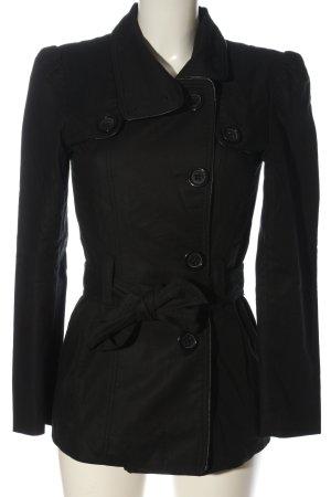Oasis Płaszcz przejściowy czarny W stylu casual