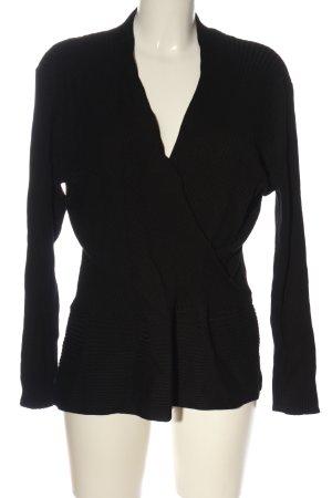 Oasis V-Ausschnitt-Pullover schwarz Casual-Look