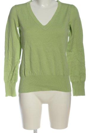 Oasis Sweter z dekoltem w kształcie litery V zielony W stylu casual