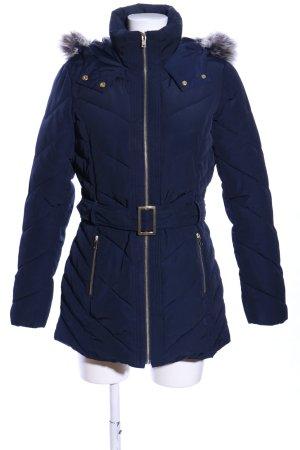 Oasis Winterjacke blau Steppmuster Casual-Look