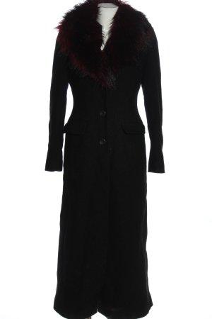 Oasis Manteau en laine noir élégant