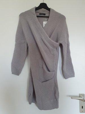 Simple Vestito di lana argento-grigio chiaro Acrilico