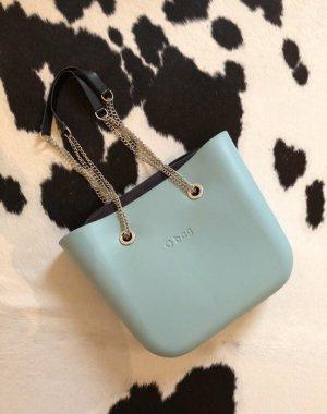 Obag Handtasche shopper clutch blau grau neu Mode Blogger Fashion