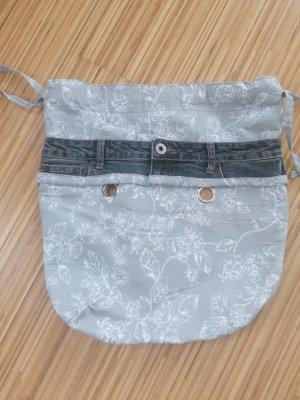 Bolso de tela gris claro-gris oscuro