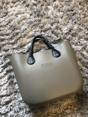 Obag o bag Tasche shopper neu grau beige schwarz Henkel Accessoires