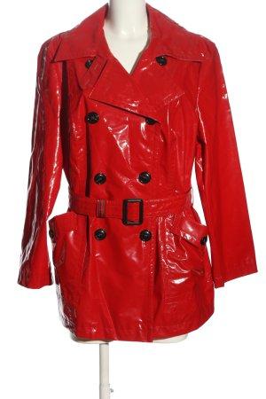 OBERSTOFF Zware regenjas rood casual uitstraling