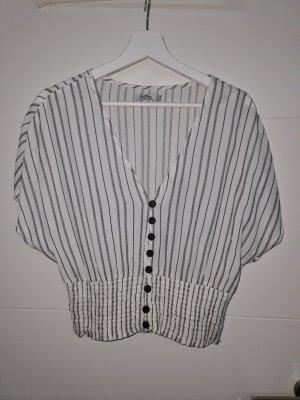 Bershka Blouse topje wit-zwart
