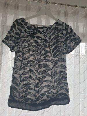 Monsoon Camicia a tunica bianco-nero