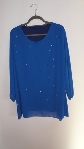 Blusa brillante blu fiordaliso