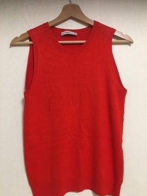 Zara Gebreide top rood