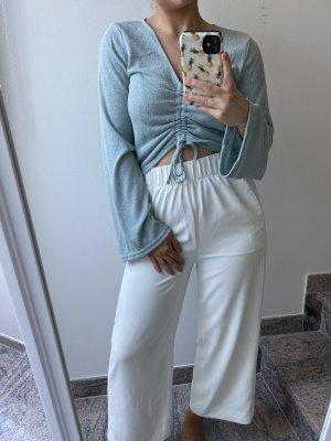 H&M Cropped Shirt sage green
