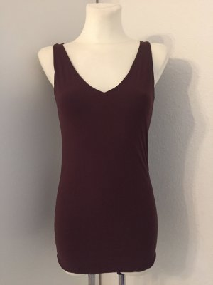 Marithé + Francois Girbaud Long Top brown red