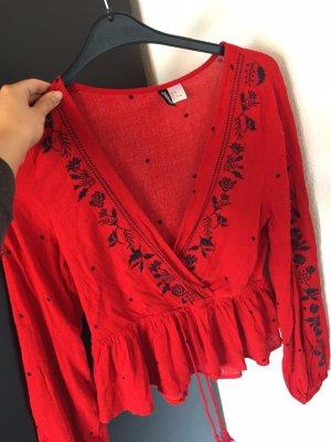H&M Kanten blouse rood