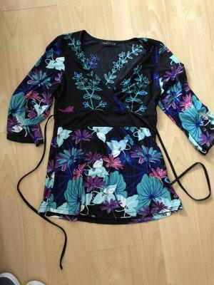 Melrose Top zwart-lila