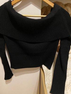 Zara Off the shoulder top zwart