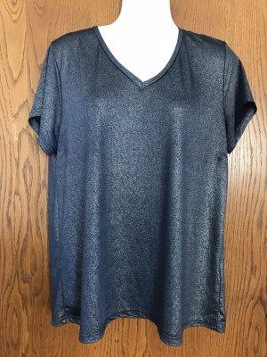 Kaffe Camisa con cuello V azul oscuro