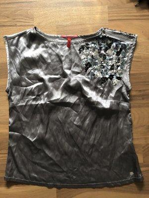 QS by s.Oliver Basic topje zilver-grijs