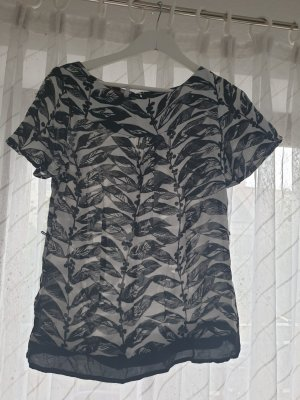 Monsoon Shirt Tunic white-black