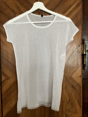 Stile Benetton Mesh Shirt white viscose