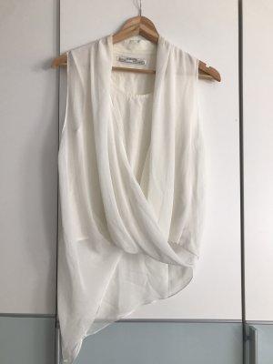 Allsaints Jedwabny top w kolorze białej wełny