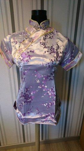 Qipao lilac-pink mixture fibre