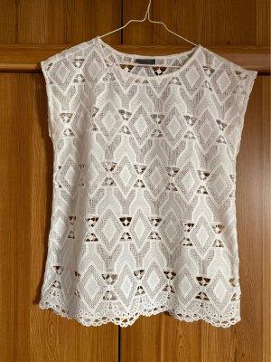 C&A Yessica Top en maille crochet blanc