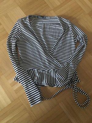 Boohoo Camicia lunga nero-bianco