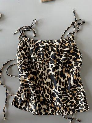 Topshop Camisole noir-gris brun polyester