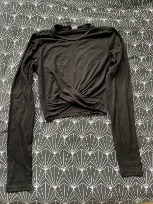 H&M Basic Cropped Shirt black