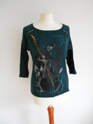 Edc Esprit T-shirt imprimé vert foncé-gris vert