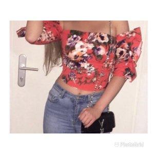 H&M Top koszulowy ceglasty-łosowiowy