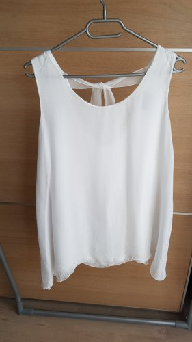 Made in Italy Silk Top white