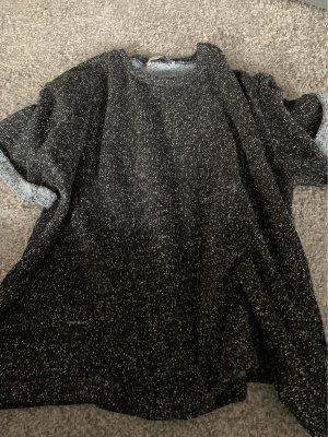 Zara Maglione a maniche corte nero-grigio