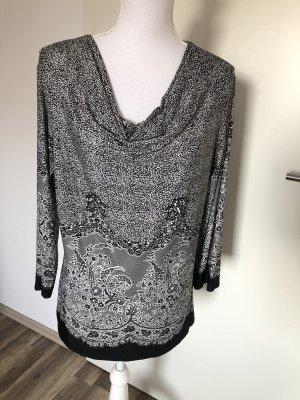 Adagio Long Shirt black-white