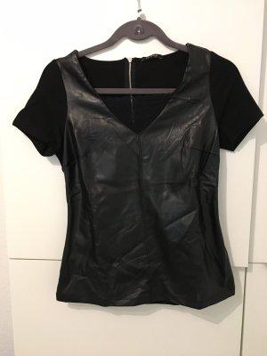 Orsay Blusa de cuero negro
