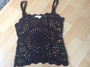 made in china Haut en crochet noir