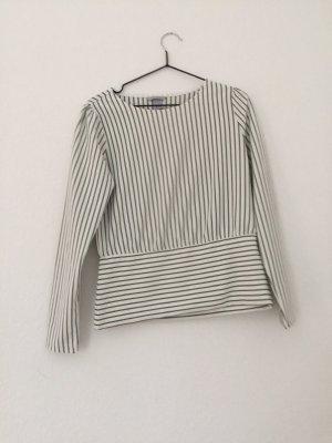 H&M Blusa tipo body negro-blanco