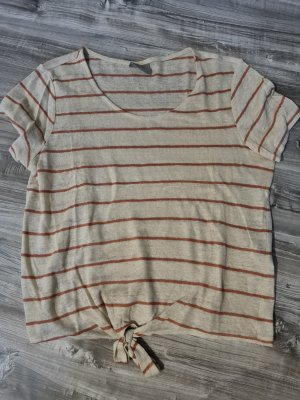 Vero Moda Kopertowa koszulka jasnobeżowy-rudy