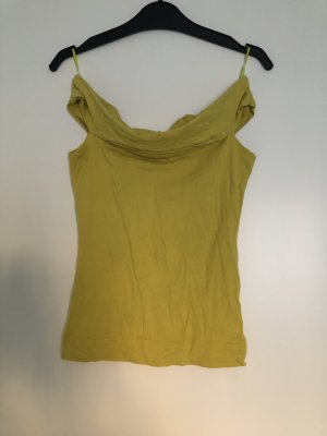 Off-The-Shoulder Top olive green-lime yellow