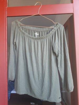 Hollister Carmen shirt groen-grijs Viscose